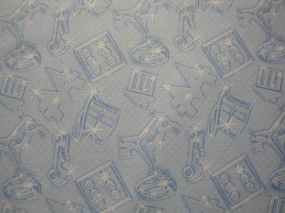 Monopoly Movers on Light Blue B/G-Quilting Treasures-Fat Quarter