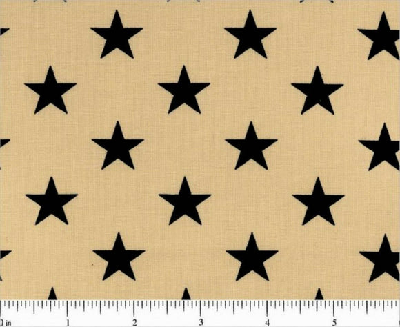 Navy Stars on Beige B/G-108