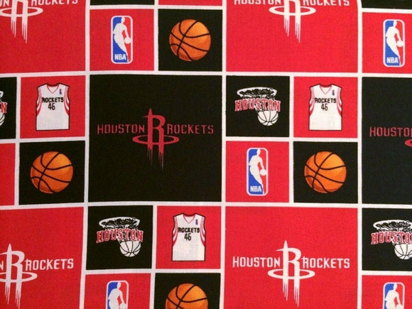 Houston Rockets Patchwork-Sykel Enterprises-Fat Quarter