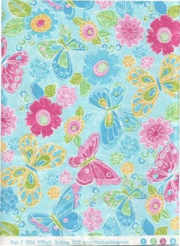 Butterfly Meadow-Blank Quilting-Fat Quarter