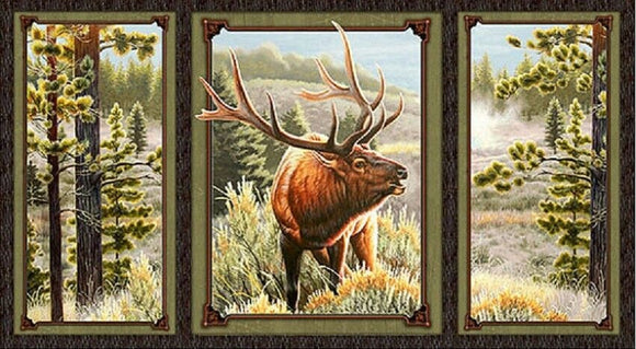 Mountain Elk Tri-Panel by Quilting Treasures
