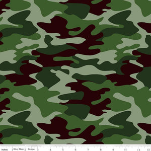 "Nobody Fights Alone ""Olive Camouflage""-Riley Blake-Fat Quarter"
