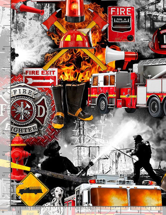 Firefighter Patchwork-Timeless Treasures-Fat Quarter