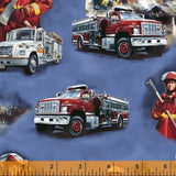 "Hold the Line ""Firefighters""-Windham Fabrics-Fat Quarter"
