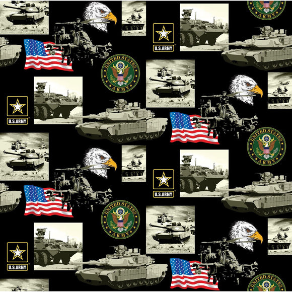 United States Army Collage-Sykel Enterprises-Fat Quarter