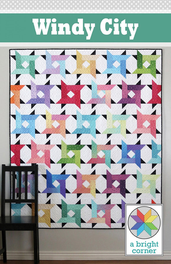 Windy City Quilt Pattern by A Bright Corner