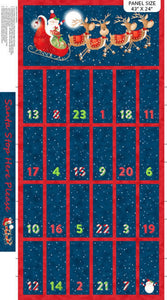 Santa Stop Here Advent Calendar Panel by Northcott Fabrics