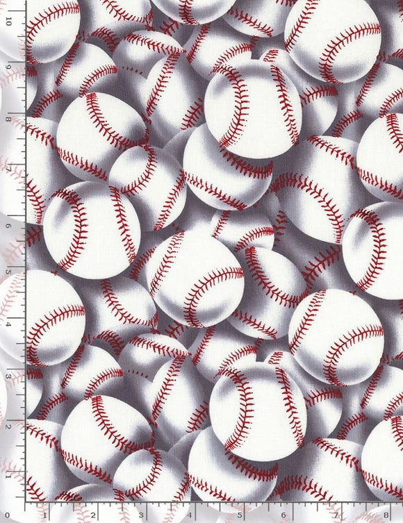 Packed Baseballs-Timeless Treasures-Fat Quarter