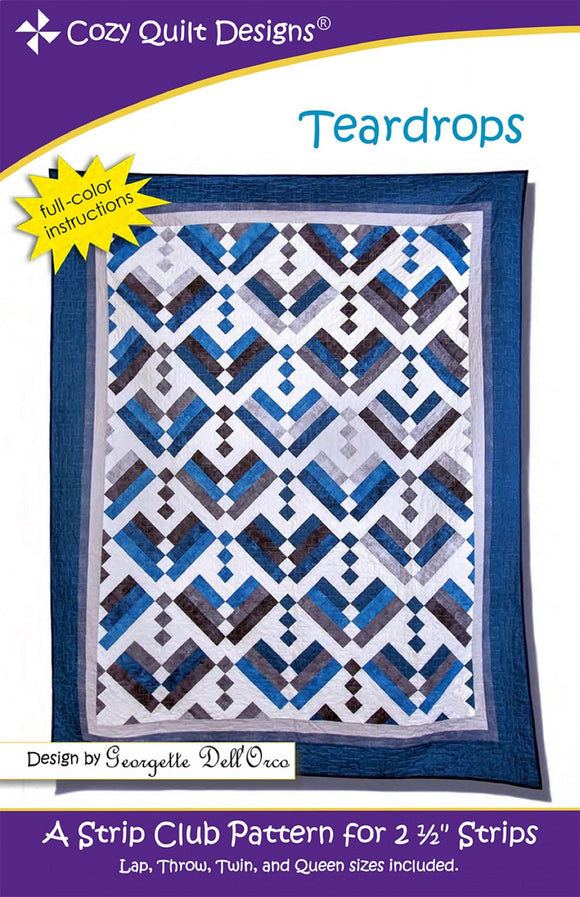 Teardrops Quilt Pattern by Cozy Quilt Designs