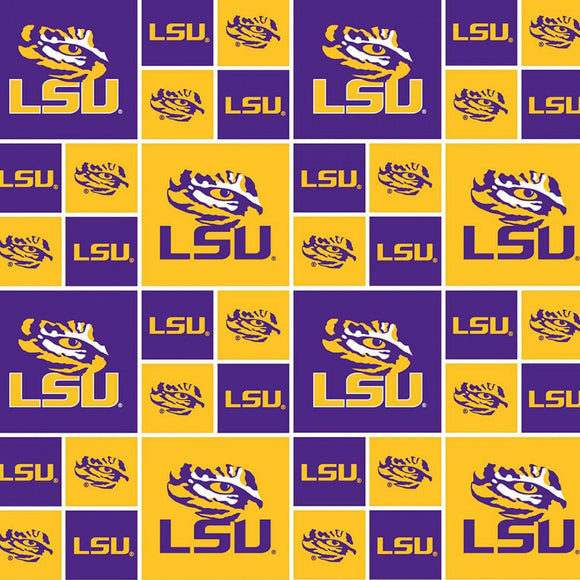LSU Patchwork Print-Sykel Enterprises-Fat Quarter