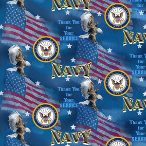 "Military Flags ""Navy""-Sykel Enterprises-Fat Quarter"