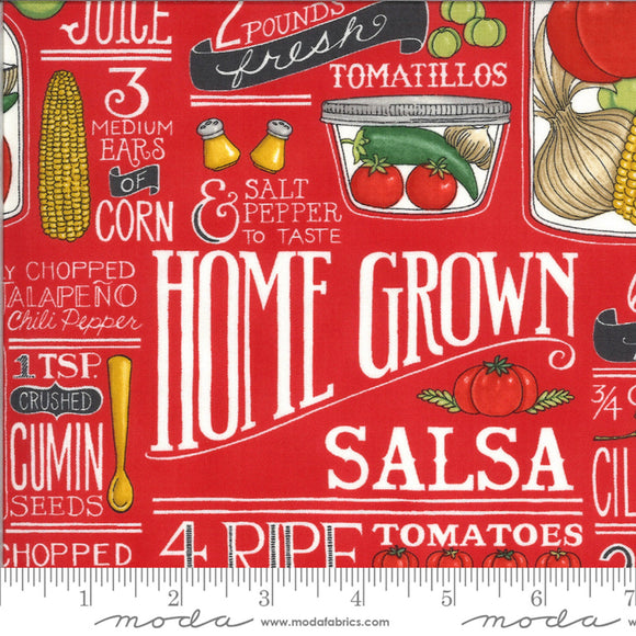 Home Grown Salsa-Moda Fabrics-Fat Quarter