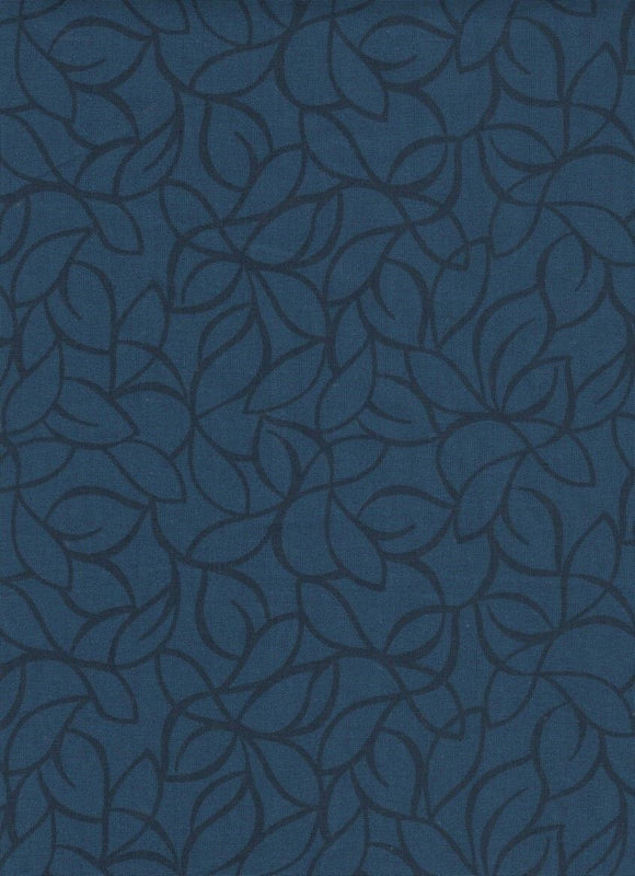 Black & Navy Leaves-108