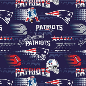 "NFL New England Patriots-60"" wide-Fabric Traditions-BTY"
