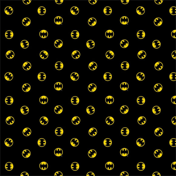 DC Comics Batman Logo 80th Anniversary-Camelot Cottons-Fat Quarter