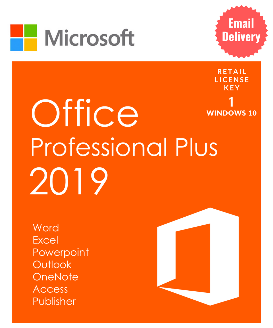 Office 2019 Pro Plus 32/64 bit Retail Key Lifetime