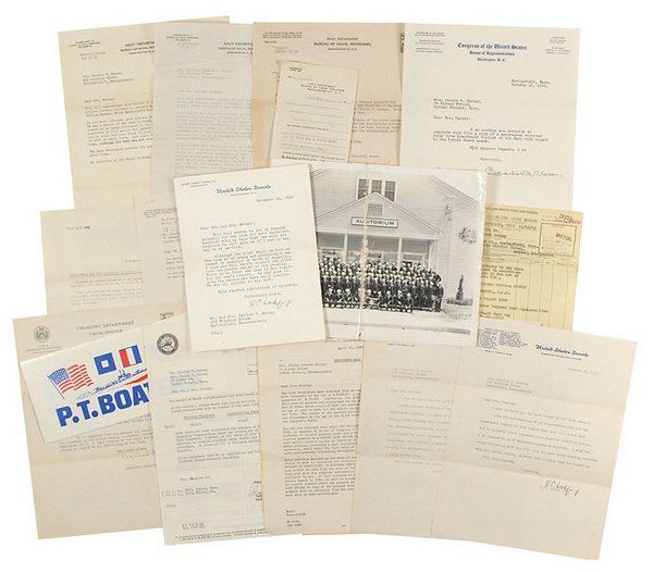 JFK letters to WWII crew member