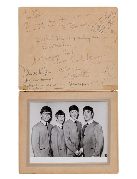 Beatles Ed Sullivan show autograph book sold at Heritage Auctions