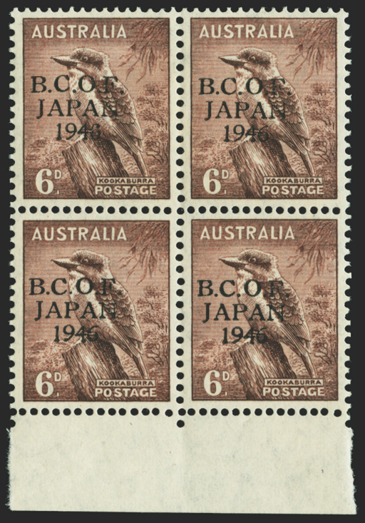 Australia purple brown stamp