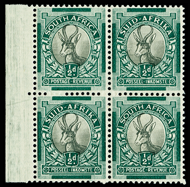 South Africa grey and green variety stamp