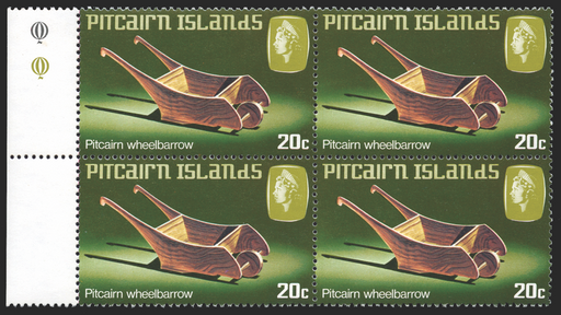 Pitcairn Islands 1980 Wheelbarrow stamp