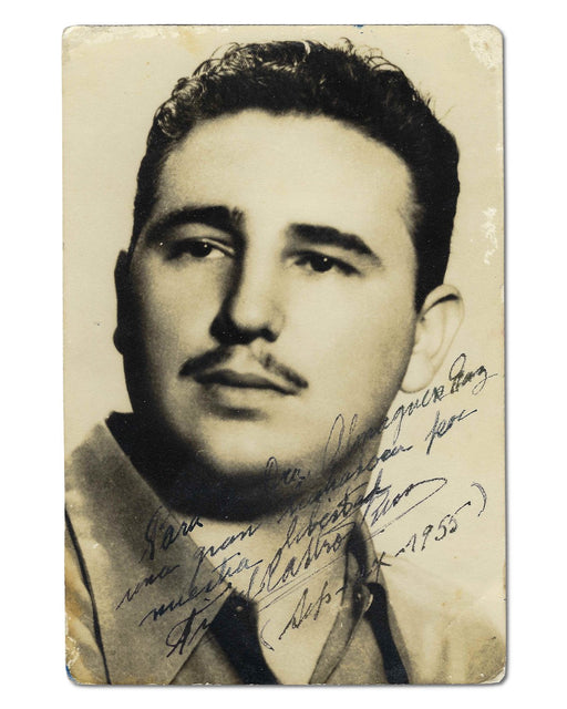 Fidel Castro signed photograph