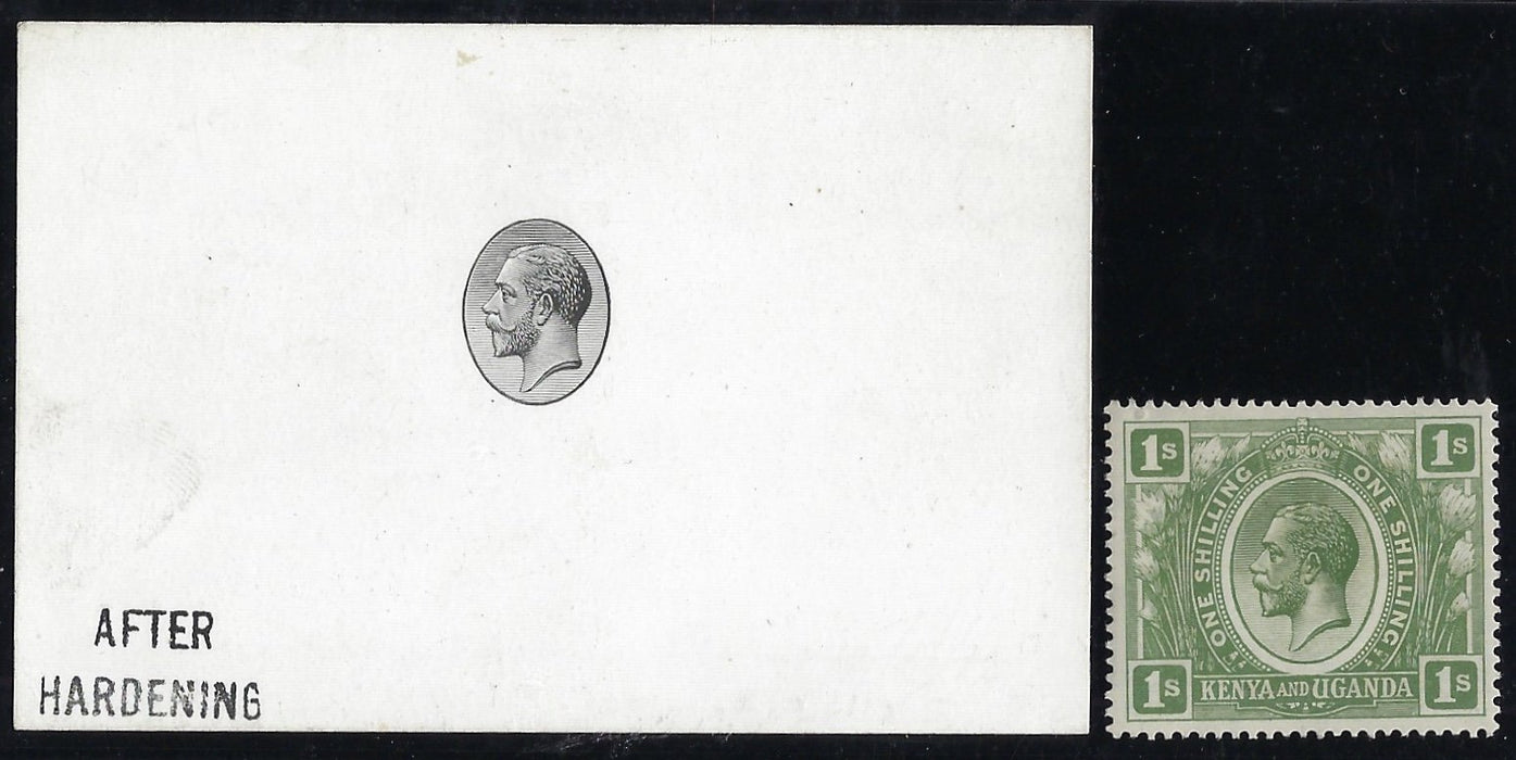 KUT 1922 (11 May) master die proof of the KGV head vignette used for the 1922-27 1s to £100. SG87/105