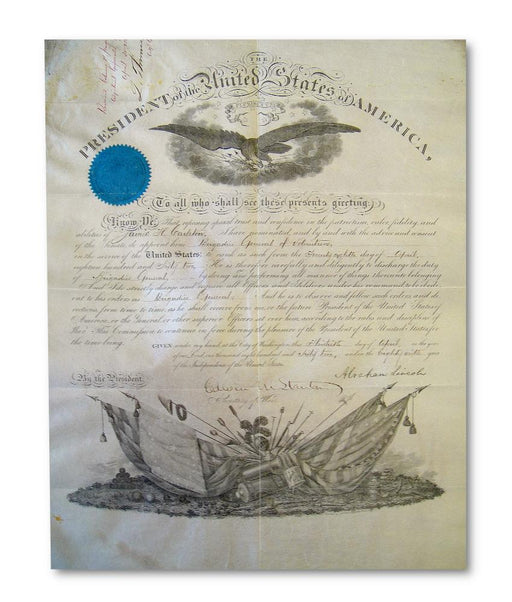 Abraham Lincoln U.S Civil War signed document