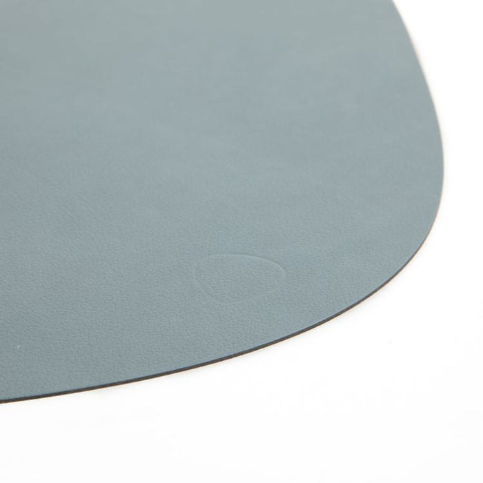 CURVED L TABLE MAT DOUBLE SIDE LIGHT BLUE/LIGHT GREY