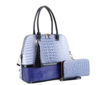 Load image into Gallery viewer, 2 n 1 crocodile Dome Satchel Set