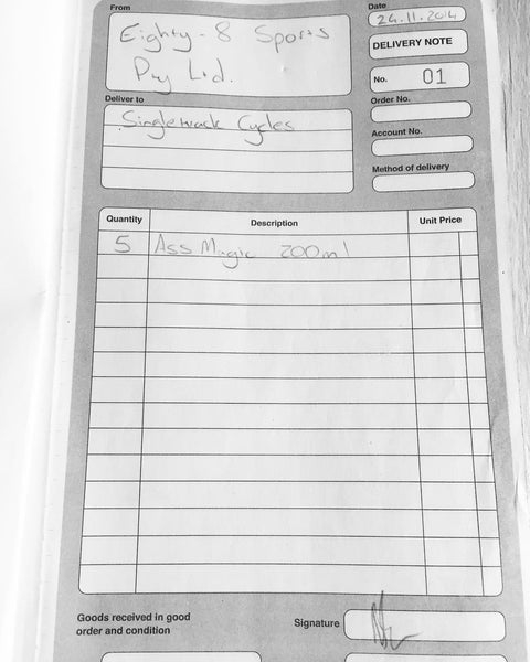 first ass magic delivery note