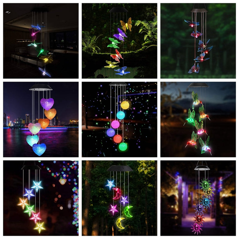 Led Solar Wind Chime Crystal Ball Zelights