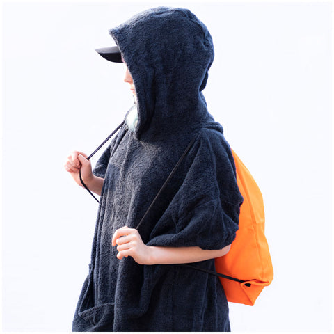 The booicore Outdoor Changing Towel Robe - Death Metal Black