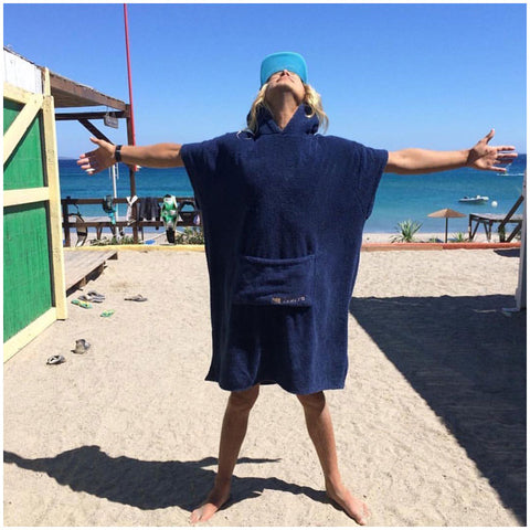 The booicore Outdoor Changing Towel Robe - Navy Blue