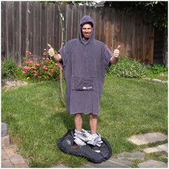 The booicore Outdoor Changing Towel Robe - British Grey