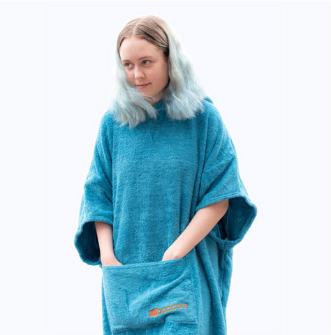 "The booicore ""Midi"" Changing Robe - Turquoise"