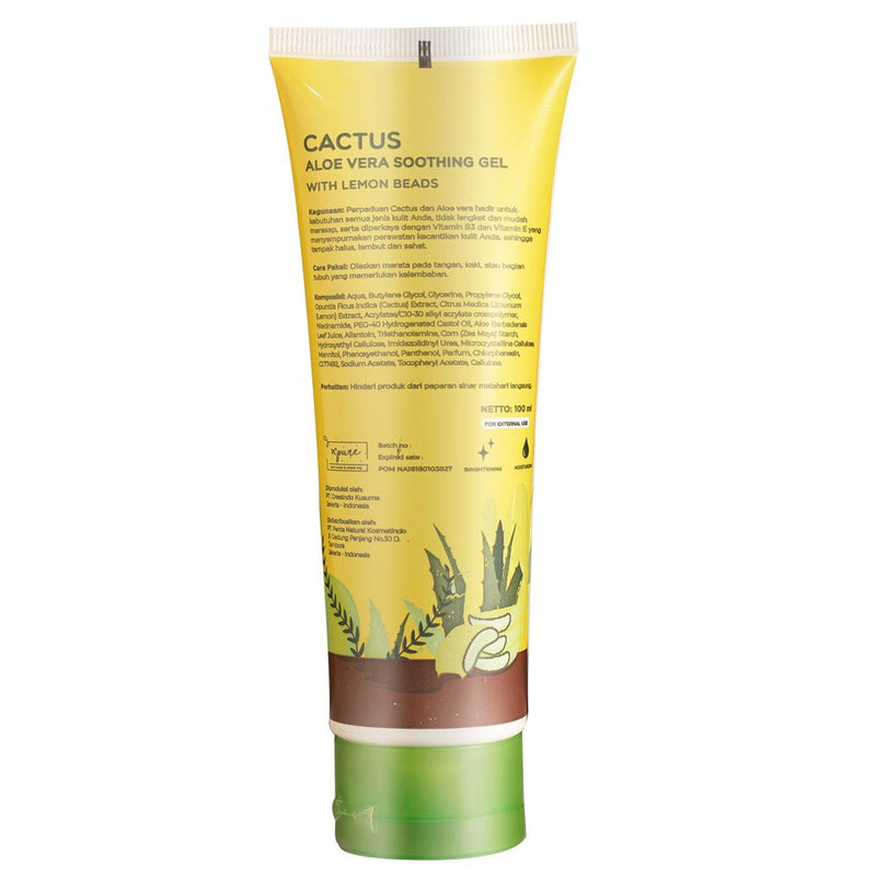 NPURE Cactus Aloe Vera Soothing Gel 100 ml (Tube Travel Size)