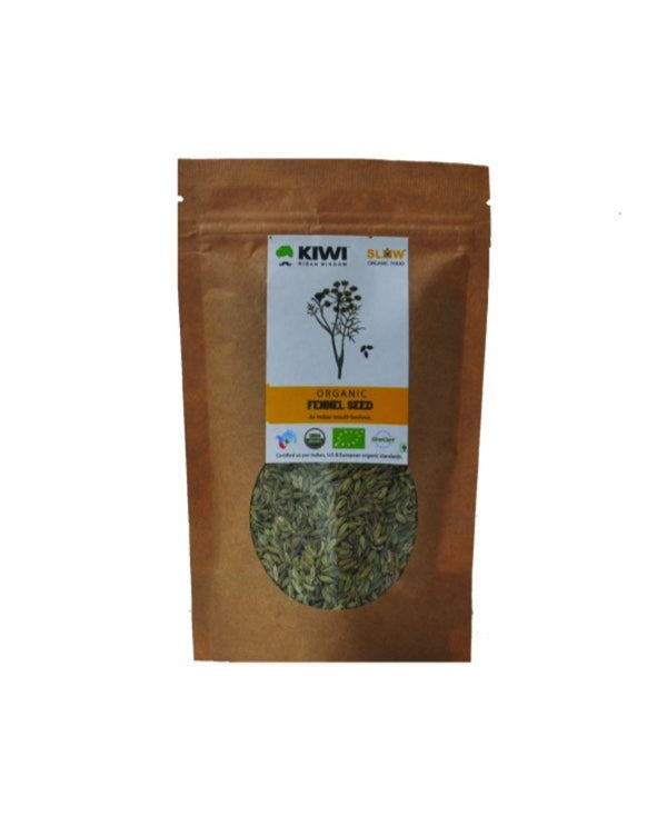 KIWI KISAN WINDOW Organic Fennel Seeds 100G