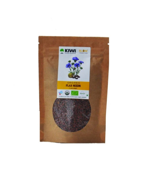 KIWI KISAN WINDOW Organic Flax Seeds 100G