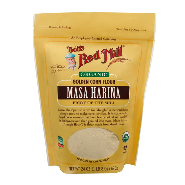 BOB'S RED MILL Organic Golden Masa Harina Corn Flour, 680gm