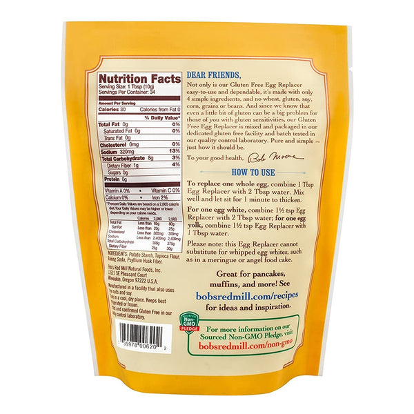 BOB'S RED MILL Vegetarian Egg Replacer, 340gm