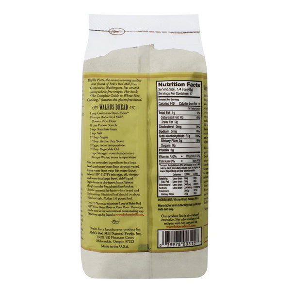 BOB'S RED MILL Brown Rice Flour, Whole Grain