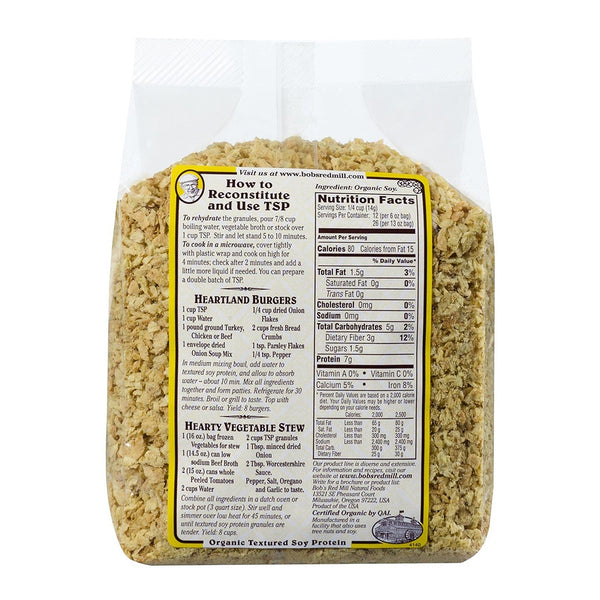 BOB'S RED MILL TSP (Textured Soy Protein)