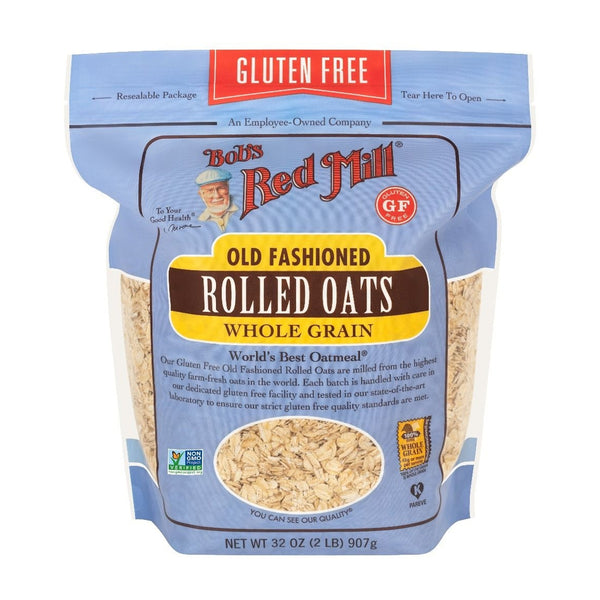 BOB's RED MILL Old Fashioned Whole Grain Rolled Oats, 907g - Vegan, Non-GMO, Gluten-free