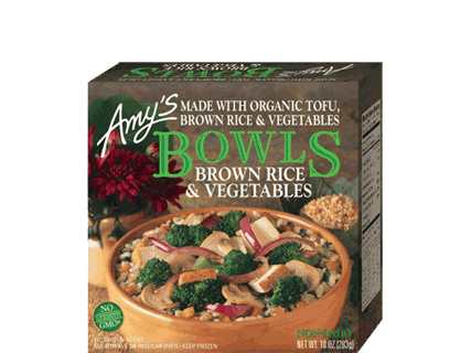 AMY'S Brown Rice & Vegetable Bowl, 283gm