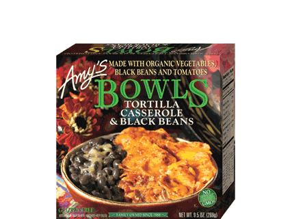 AMY'S Tortilla Casserole With Black Beans Bowl, 269gm