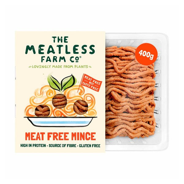 THE MEATLESS FARM Plant Based Meat Free Ground Mince, 400g - Vegan, Gluten-free