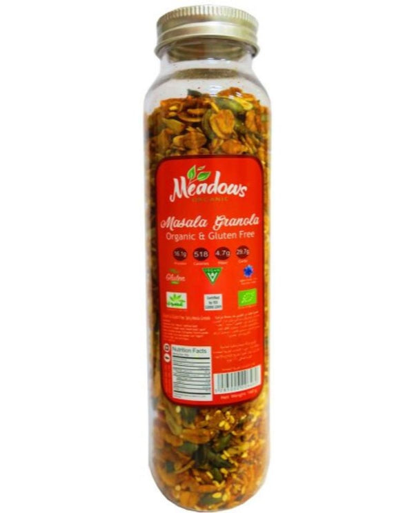 MEADOWS Organic and Gluten Free Spicy Masala Granola Mix