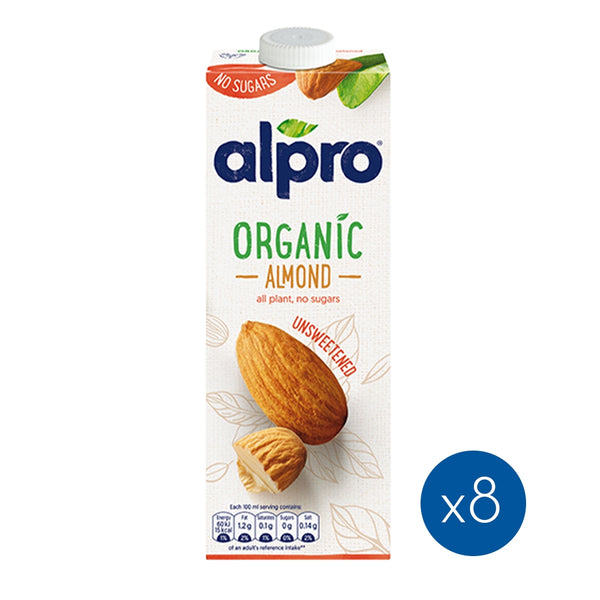 ALPRO Almond Unsweetened Drink, 1L x 8 Pack