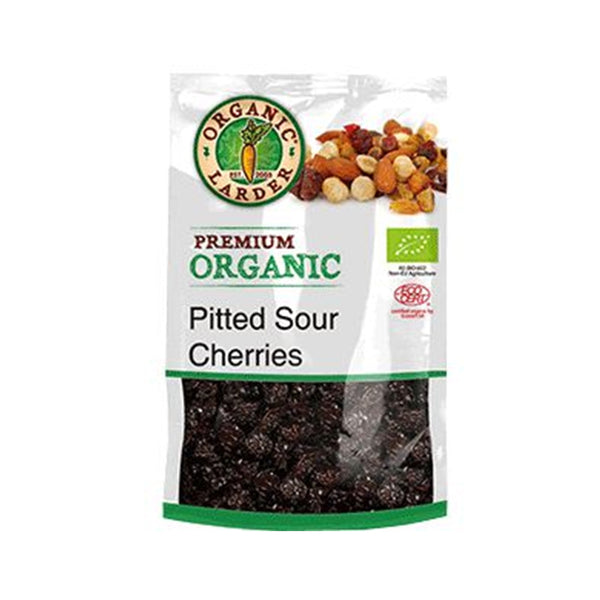 ORGANIC LARDER Pitted Sour Cherries, 175g
